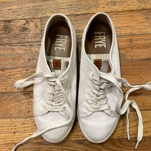 FRYE White FULL LEATHER Sneakers 7.5 CHIC GR8UC